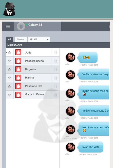 Spy4M Dashboard demo - Mobile Spy Monitor Tinder App